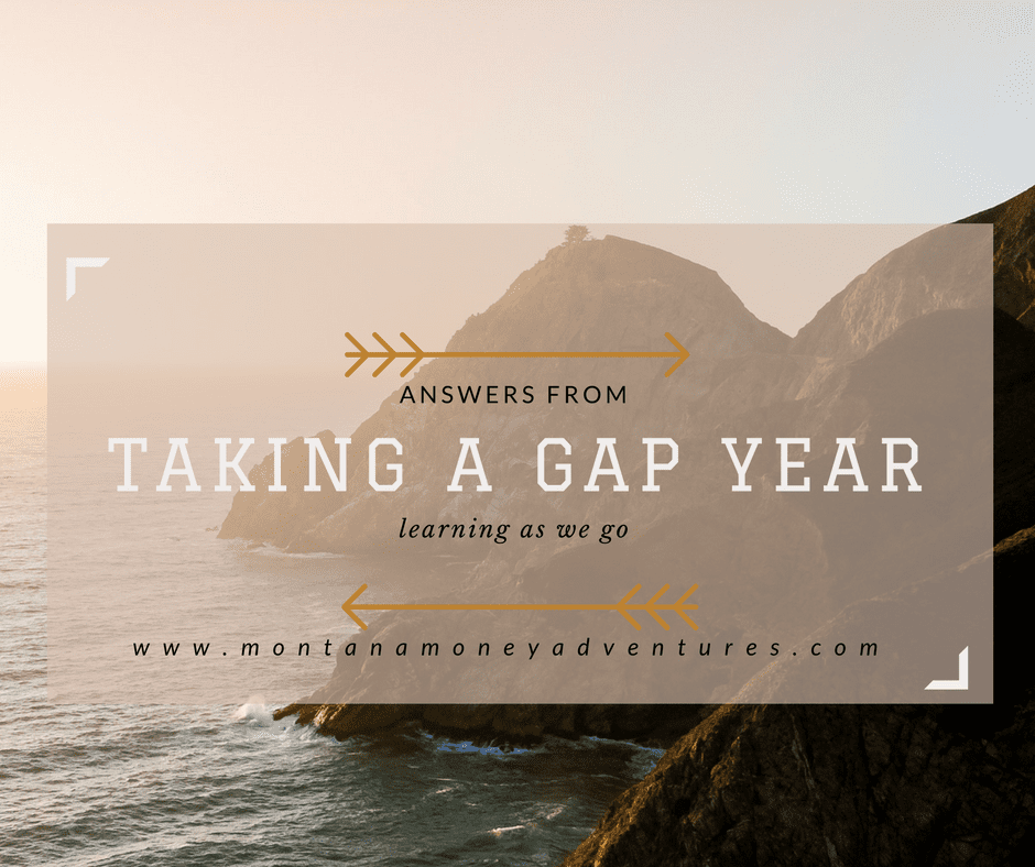Answers from Taking a Gap Year