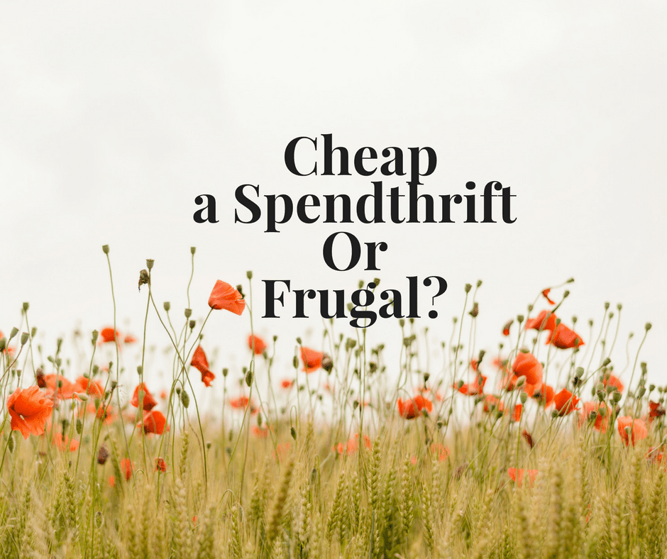 Cheap, Spendthrift or Frugal?