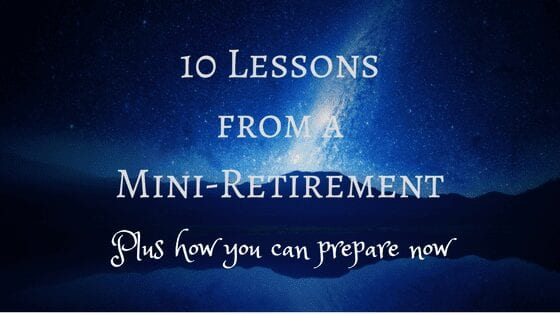 planning a mini retirement, year off, sabatical