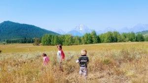 Grand Tetons and the kids run wild